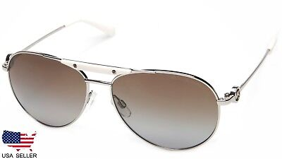 92b06e7a3a618 NEW MICHAEL KORS MK5001 Zanzibar 1001T5 SILVER  BROWN LENS SUNGLASSES  58-14-135