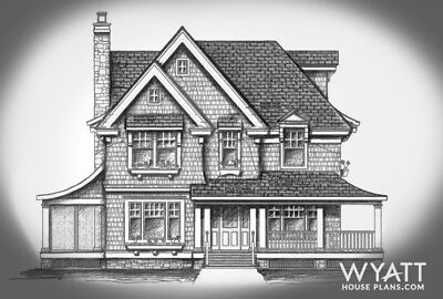 House plans, Cottage-style home 2271 sq. ft. Two-Story House plans - new home