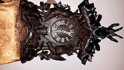 Rare German Mantle Blackforest Cuckoo Clock