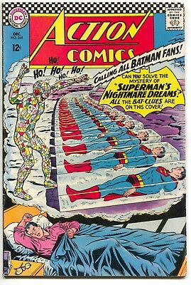 Action Comics 344 DC 1966 VG Supergirl Batman Superman Joker Riddler