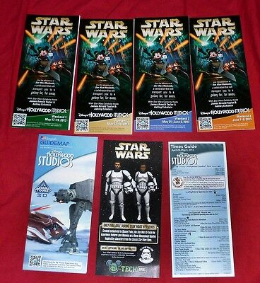 Disney Star Wars Weekends 2013 Complete set of 4 Guidemap Guide Map & more (Q)