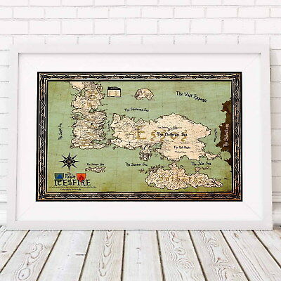 208059 GAME OF THRONES MAP Decor Wall PRINT US