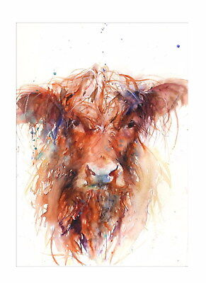 207957 Cow Face Abstract Animal Nature Decor Wall PRINT US