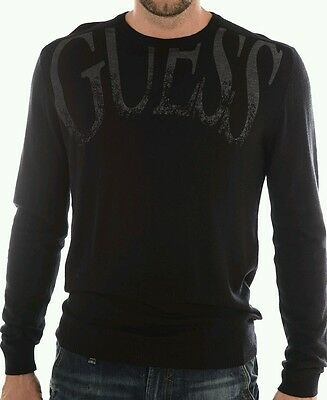 9c76e14f47bf Pull GUESS HOMME FINE MAILE NOIR T.S -52% liquidation totale !
