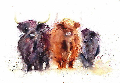 206386 Cow Face Abstract Animal Nature Decor Wall PRINT AU