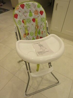 Awe Inspiring John Lewis Baby Travel Fold Up High Chair Hardly Used Andrewgaddart Wooden Chair Designs For Living Room Andrewgaddartcom