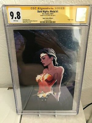 Dark Nights Metal #1 CGC SS 9.8 Turner Variant Signed Gal Gadot Wonder Woman DC