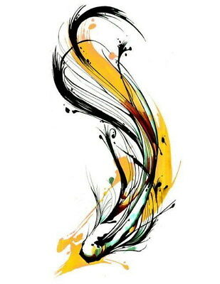 207374 Modern Abstract Beautiful Fish Decor Wall PRINT CA
