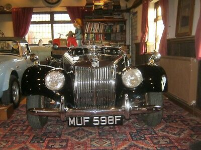Beautiful gleaming black Mg Tf gentry, full weather gear, wires, authentic car.