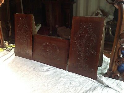 4 Very Nice Victorian Panels Each One Carved By Hand.