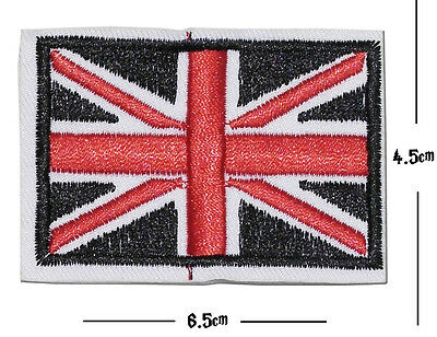 Union Jack Iron / Sew On Embroidered Patch Badge UNITED UK FLAG Embroidery Motif
