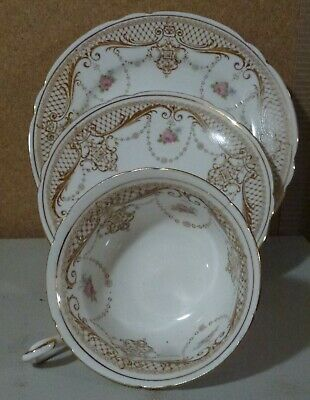 1 TRIO 3 ITEMS ANTIQUE SHELLEY LATE FOLEY CHINA CUP SAUCER PLATES DISPLAY 1 of 3