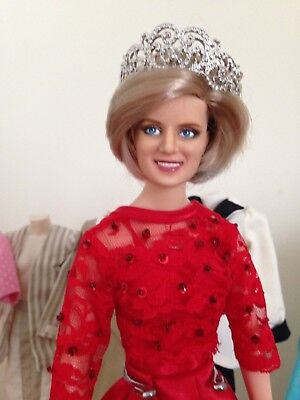 Princess Diana Danbury Mint Repainted Diana Doll 8 outfits gowns dresses