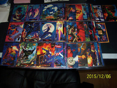 1994 Marvel Masterpieces Gold Foil Signature card set complete all 140 cards