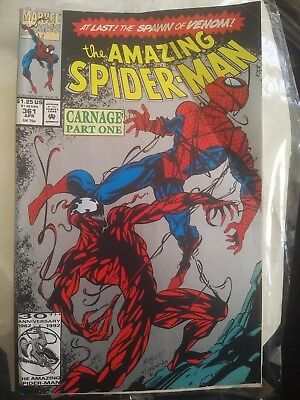 AMAZING SPIDER-MAN #361 2nd printing , 1992 Basis For Venom 2 Movie? Carnage