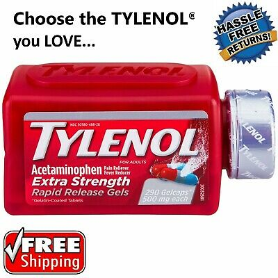 Tylenol Extra Strength Caplets, Rapid Release Gels & MORE FREE SHIPPING **NEW**