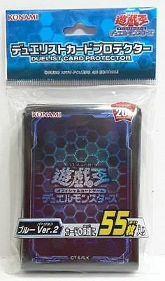 Yugioh Konami OCG Duelist Card Sleeves - Blue Ver.2 - 55pcs Sealed!