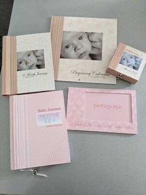 pregnancy gift pack expectant mum baby girl record book journal keepsake