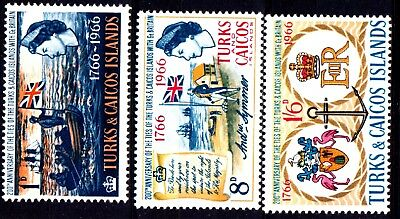 Turks & Caicos Is:1966:Bicentenary of'Ties with Britain',Set,L.M.Mint.
