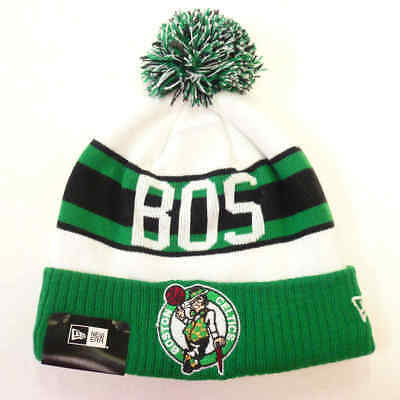 pretty nice 1bcda 031be Boston Celtics Retro Cuff New Era Mens Pom Knit Winter Hat