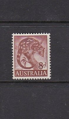 1960 Australia (1959 - 1962 Zoological series) 8d Red- Brown TIGER CAT mint MNG