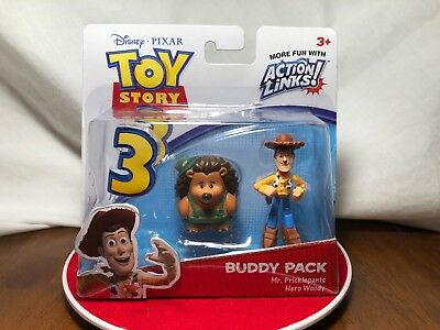 2009 Mattel Disney Pixar Action Links Buddy Pack Mr. Pricklepants/Hero Woody