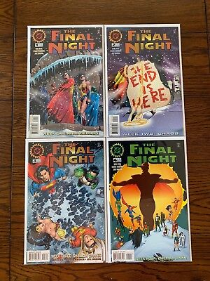 THE FINAL NIGHT DC Complete Comic Book Lot #1 2 3 4 VF/NM Mini Series Comics