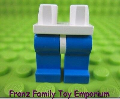 LEGO Lot of 2 Pair of Blue Minifig Legs and White Hips
