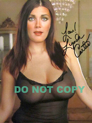 REPRINT RP 8x10 Signed Autographed Photo: Lynda Carter Nude See-Thru