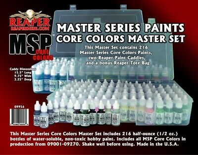 Reaper Miniature #09956 Master Series Paint Core Colors Master Set (09001-09270)