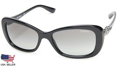 09a40cea128bd1 New Vogue Vo2917-S W44 11 Black  grey Grad Lens Sunglasses Vo2917S 56