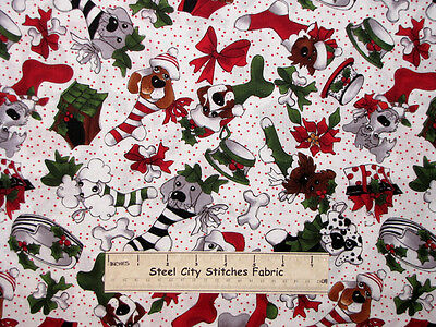 Christmas Olive Dot Bullseye on White Cotton Fabric Loralie Designs By The Yard