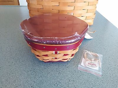 Longaberger 2016 Red Christmas Tree Trimming Generations basket set Complete NEW