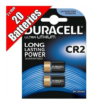 20 Duracell Ultra Lithium CR2 3V Camera Photo Battery wholesale bulk lot