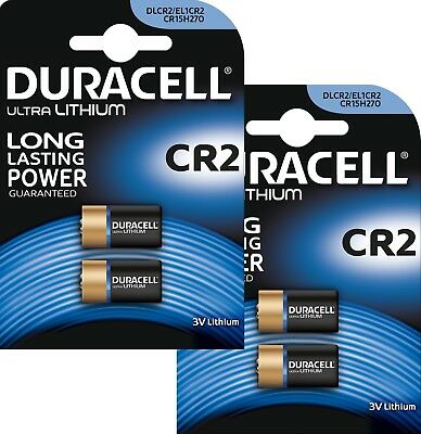 4 Duracell Ultra Lithium CR2 3V Camera Battery photo