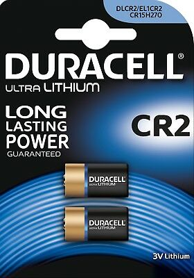2 Duracell Ultra Lithium CR2 3V Camera Battery