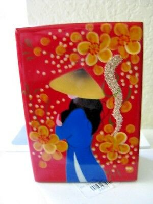 Small Trinket Box with Felt Lined with Mirror Inside  Made in  Japan