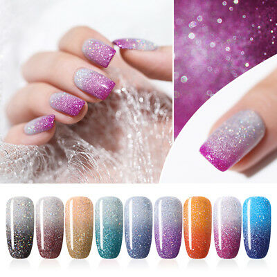 UR SUGAR Thermal Color Changing UV Gel Polish 7.5ml Glitter Soak Off Nail Gel