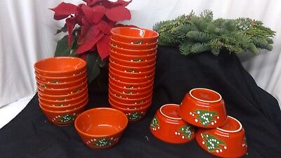 "Waechtersbach Coupe Bowls Classic Christmas Tree Design 5"" Excellent Condition"
