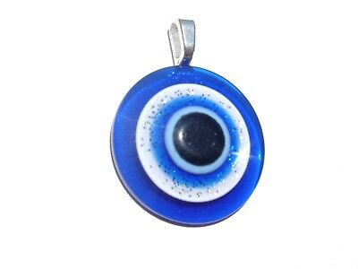 Italian Dark Royal Blue Evil Eye Ancient Roman Greek  Men * Women Charm  Pendant