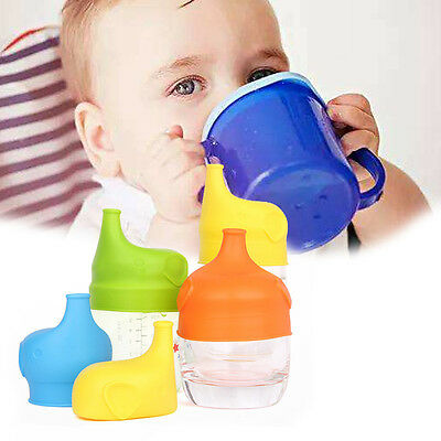 Safety Silicone Sippy Lid Toddler Baby Bottle Cover a Sippy Cup Leak Proof