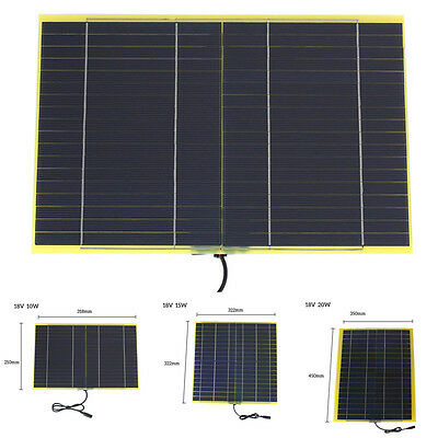 18V 10W 15W 20W Solar Panel Module Charger Rechargeable 12V Car Battery