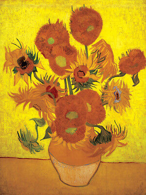 Sunflower Yellow Vincent Van Gogh  HD Canvas Art Print Oil Painting Decor/ 036