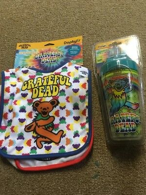 Grateful Dead Straw Cup and 2 Baby Bibs