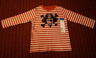 New W/ Tag Okie Dokie Boy Size 18 Months Red & White Long Sleeve Graphic T Shirt