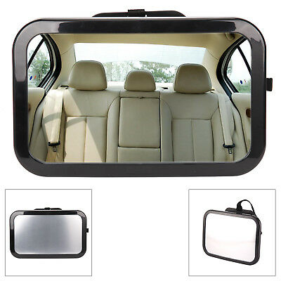 Large Adjustable Wide View Baby/Child Seat Car Safety Mirror Headrest Uk Stock
