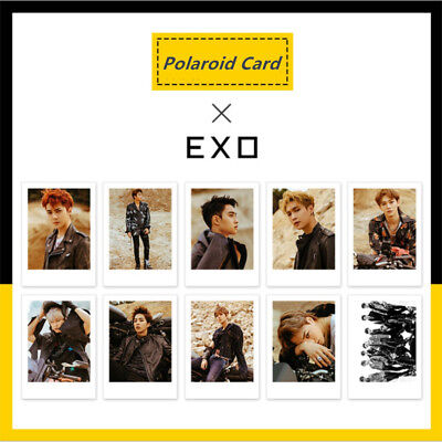 Kpop EXO Don't Mess up My Tempo Polaroid Photo Cards New Album HD Photocard NEW