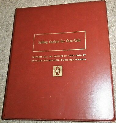 Vintage Selling Coolers for Coca-Cola Salesman Binder...Rare Coke Collectible!