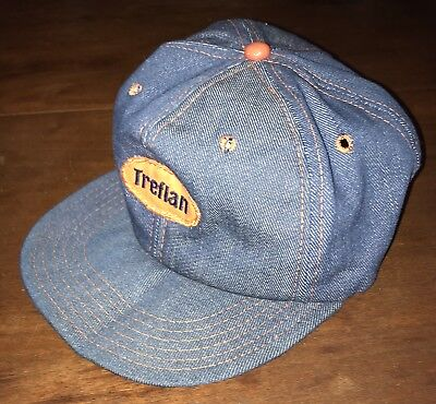 4454afe51be720 Vintage Denim Swingster TREFLAN Farm Herbicide Rare Patch Snapback Trucker  Hat