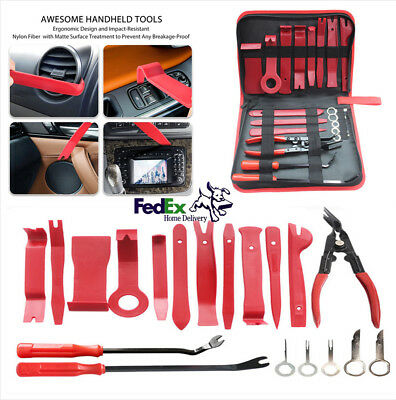 19X Car Upholstery Fastener Trim&Panel Removal Tools Clip Plier Fastener Remover